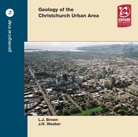 Geology of the Christchurch urban area. Scale 1:25,000 (CD / original map)