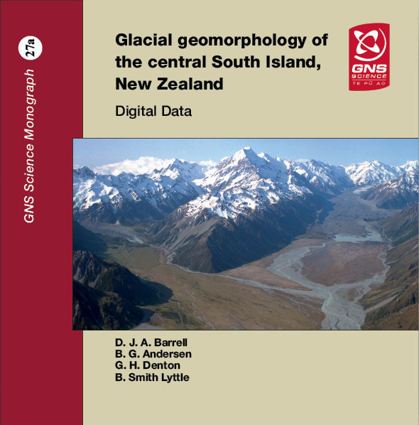 Glacial geomorphology of the central South Island, New Zealand - digital data