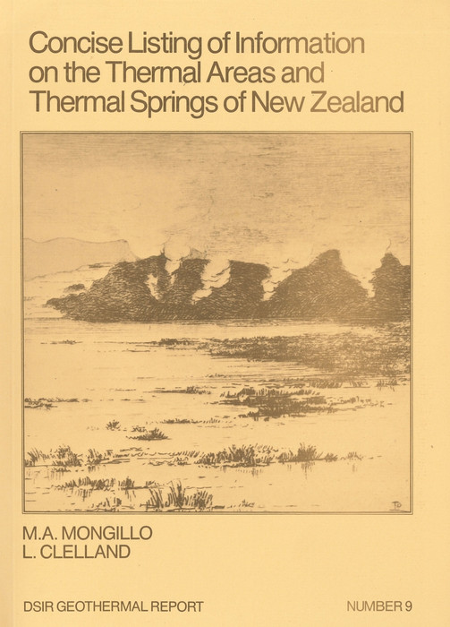 Concise listing of information on the thermal areas and thermal springs of New Zealand