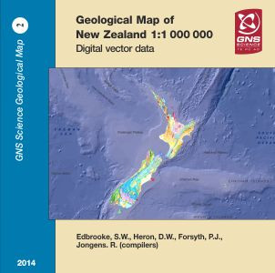 Geological map of New Zealand 1:1 000 000 : digital vector data 2014