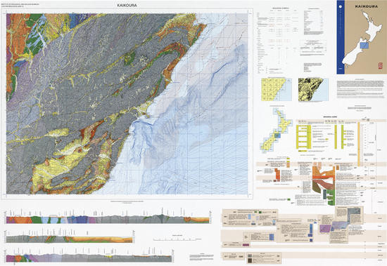 Geology of the Kaikoura area : scale 1:250,000 Digital Download