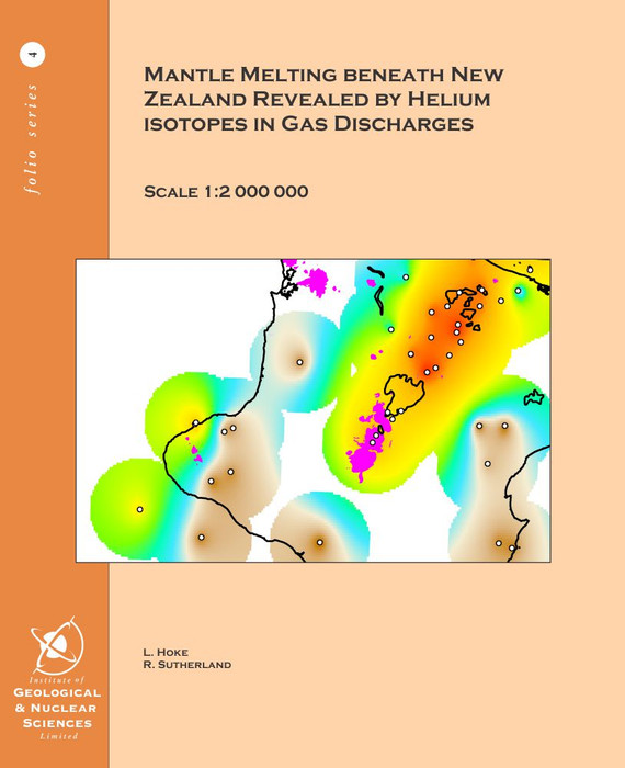 Mantle melting beneath New Zealand revealed by helium isotopes in gas discharges
