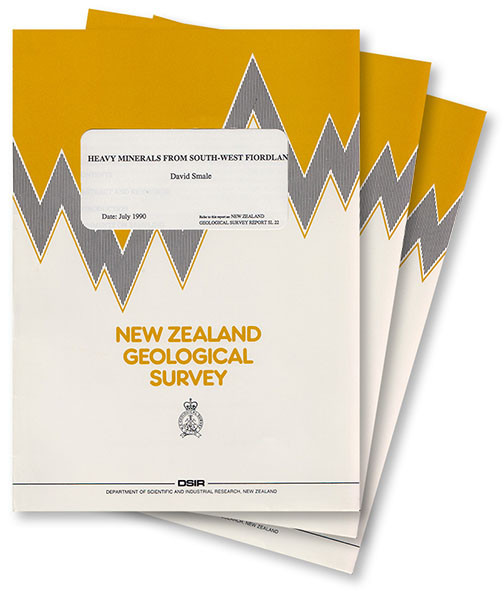 Heavy minerals from Tertiary sandstones, Waitaki and Hakataramea Valleys