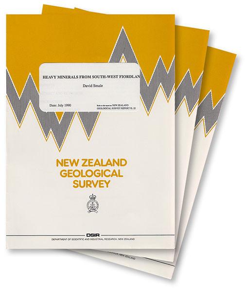 Petrology of sediments from Sheet N29 - Lake Rotoiti - Tophouse