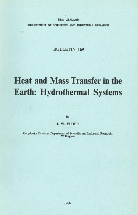 Heat and mass transfer in the earth. Hydrothermal systems