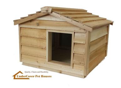 large insulated cedar cat house small dog house