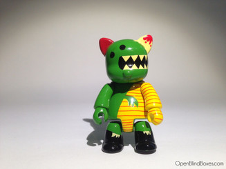 Peskimo Green Dinosaur Qee Designer Collection 6 Front