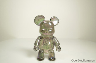 Metallic Bear Qee Clear Glitter Metallic Series Front