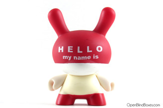 Huck Gee Hello My Name Is Series 3 Dunny Kidrobot Front