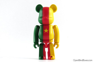 Cameroon Flag Be@rbrick Series 25 Medicom Front