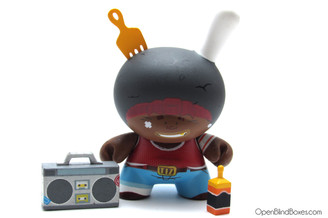 Tizieu Afro Black I'm french Dunny Kidrobot Front