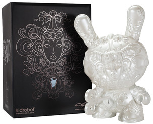 JRYU It's A F.A.D. Pearlescent White 20 Inch Dunny Kidrobot