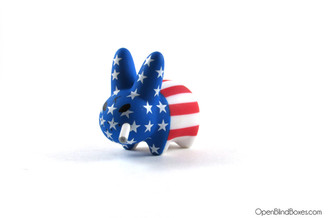 Stars And Stripes Smorkin Labbit Series 4 Frank Kozik Kidrobot Left