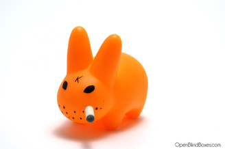 Florescent Orange Smorkin Labbit Series 2 Frank Kozik Left