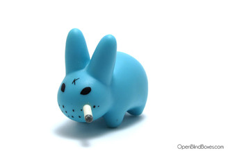 Light Blue Smorkin Labbit Series 2 Frank Kozik Kidrobot Left