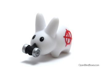 White Anarchy Happy Labbit Frank Kozik Kidrobot Left