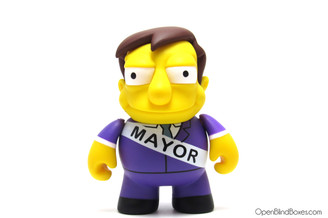 Mayor Quimby The Simpsons 25th Anniversary Kidrobot Front