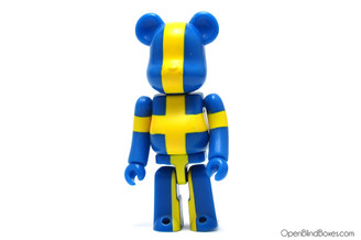 Sweden Flag Be@rbrick Series 16 Medicom Front