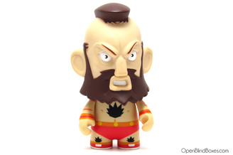 Red Zangief Player 1 Street Fighter Kidrobot Front