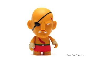 Sagat Red Player 2 Street Fighter Series 1 Kidrobot Front