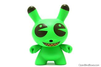 Green Dalek Pac Man Dunny Kidrobot Front