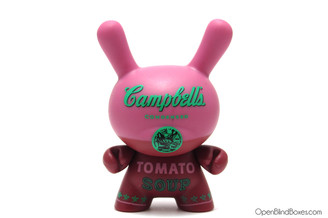 Red Campbell's Soup Dunny Andy Warhol Kidrobot Front