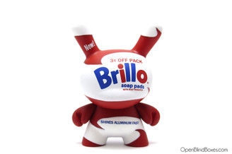 Brillo white Andy Warhol Dunny Kidrobot Front