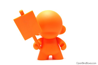 Orange Munny 4 inch sign kidrobot Front