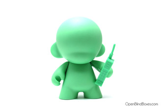 Green munny 4 inch cell phone kidrobot front