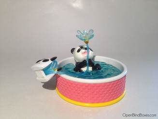 Swimming Pool Panda Re-Ment Miniature