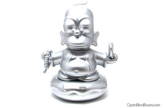 Silver Homer Simpson Buddha 7 Inch Kidrobot Front