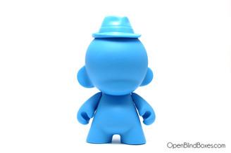 Blue Munny 4 Inch Fedora Kidrobot Front