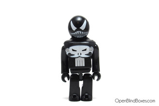 Venom Punisher Kubrick Marvel Series 1 Medicom Front