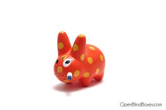 Polka Dot Orange Smorkin Labbit Series 1 Frank Kozik Kidrobot Front