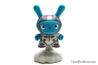 The Bots White To The Moon DTA Dunny Kidrobot Front
