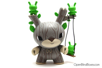 Gary Ham Autumn Stag Green DTA Dunny Kidrobot Front