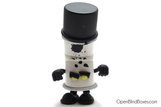 Black Spent Bent World Spray Cans Scribe Mad Kidrobot Front