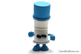Blue Racked Bent World Spray Cans Mad Kidrobot Front