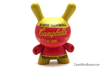 Red Campbell's Soup Can Dunny Andy Warhol 2 Kidrobot Front