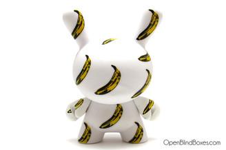 Banana Andy Warhol 2 Dunny Kidrobot Front