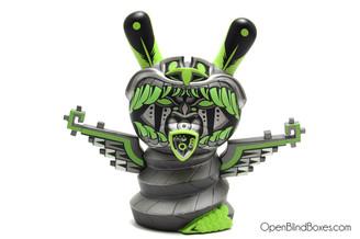 Jesse Hernandez Kukulcan Green Apocalypse Dunny Kidrobot Front