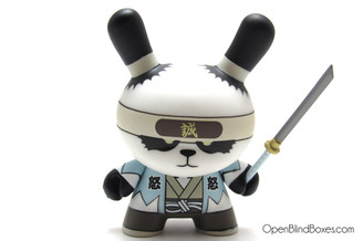 Ornery Panda Shinsengumi Gold Life Dunny Huck Gee Kidrobot Front