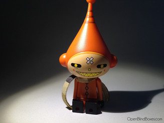 Dalek Ice-Bot Orange Evil Kidrobot Front