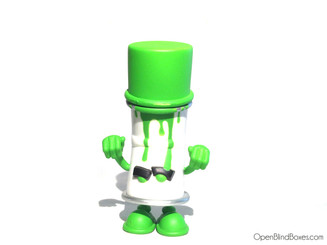 Green Spent Cent World Spray Cans Pon Kidrobot Front