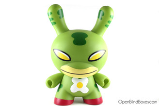 David Horvath Eggdrop 8 Inch Dunny Green Kidrobot Front