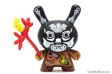 Izzie Ramirez Black Xolotl Azteca 2 Dunny Kidrobot Front