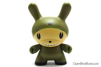 Dalek Olive Star Head Dunny Kidrobot Front