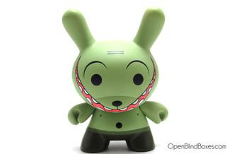 Dalek Grinning Green Dunny Kidrobot Front