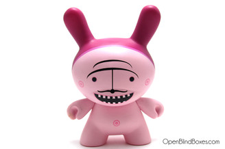 Dalek Pink Mustache Dunny Kidrobot Front