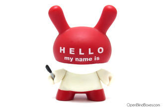 Huck Gee Hello My Name Is Series 3 Dunny Autograph Front